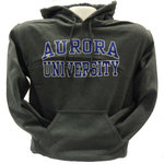 Hooded Sweatshirt - CC Basic AURORA arched over UNIVERSITY grey imprint outined in white