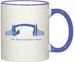 Spartan Athletic Park Mug (SAP Gate logo)(white w/blue handle)