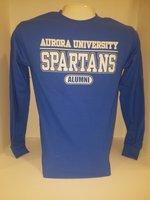 Aurora University Alumni Crew Neck Sweatshirt Aurora University over SPARTANS over Alumni