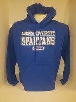 Aurora University Alumni Hooded Sweatshirt Aurora University over SPARTANS over Alumni