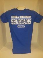 Aurora University Alumni Short Sleeve T-Shirt Aurora University over SPARTANS over Alumni