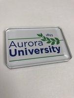 Laser Cut Acrylic Magnet - Aurora Unviersity Leaf Logo (Primary Mark)