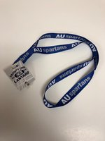 "AU Spartans Royal Lanyard - 3/4"" AU in WH Spartans in GR"