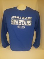 Aurora College Alumni Crew Neck Sweatshirt Aurora College over SPARTANS over Alumni