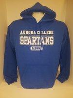 Aurora College Alumni Hooded Sweatshirt Aurora College over SPARTANS over Alumni