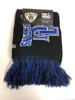Scarf- polar vortex knit - Black with Royal & White SPARTANS