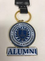 Key Ring-Alumni-AU Seal. Brass