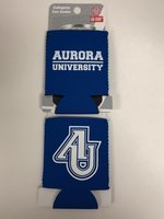 Neoprene Can Cooler Royal Blue with AU Interlocking Logo