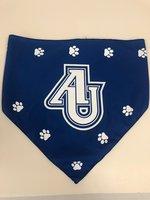 Pet Bandana - AU Spartans logo and Paw Prints in white - Royal Blue