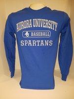 Baseball Crew Neck Sweatshirt Center Chest New Logo