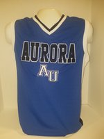 Basketball Jersey Royal UC emb. Aurora above AU, UB Spartans emb. white & black on side torso