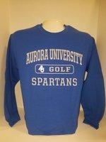 Golf Crew Neck Sweatshirt Center Chest New Logo