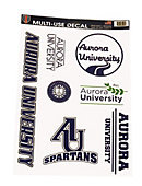 Collage Decal- 7 designs of Aurora University- imprint color is blue