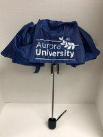 ShedRain Basic Manual Compact Umbrella Royal Blue- AU Leaf Logo