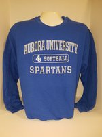 Softball Crew Neck Sweatshirt Center Chest New Logo