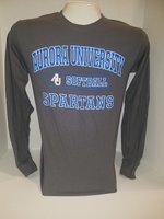 Softball Long Sleeve TShirt Center Chest New Logo