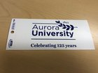 "Bumper Sticker, Adhesive White w/ AU 125th Anniversary Logo 3"" x 6.5"""