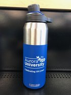 Camelbak Chute 32 oz. Stainless Magnetic Aurora University 125th Anniversary Logo in White on Cobalt Blue