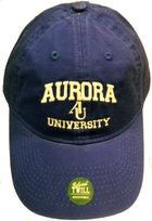 AU Adjustable Hat - EZA washed twill adjustable hat Royal blue w/ Aurora emb arched over interlocking AU over University