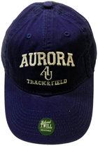 Track & Field Hat EZA washed twill adjustable hat Royal blue w/ Aurora emb arched over interlocking AU over TRACK & FIELD
