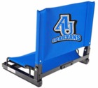 Spartan Athletic Park Stadium Chair (AU interlocking logo over Spartans on chair back)