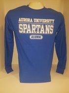 Aurora University Alumni Crew Neck Sweatshirt Aurora University over SPARTANS over Alumni