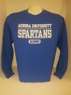 Aurora University Alumni Long Sleeve T-Shirt Aurora University over SPARTANS over Alumni