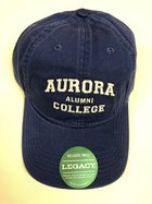 Aurora College Alumni Hat Royal Blue Adjustable