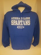 Aurora College Alumni Hooded Sweatshirt Aurora College over SPARTANS over Alumni