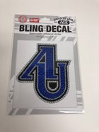 Decal - AU Bling Decal - AU in Royal Blue, Silver and Black rhinestones
