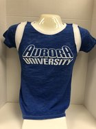 Blue 84 Jr Burnout T - Bl w/white accents CC Aurora in WH outline over University in solid WH - Tom Lapka - 9/1/16 RW