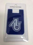 Silicone Cell Phone Pocket-Blue- AU interlocking logo