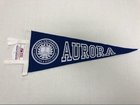 Pennant-Royal w/ white letters *Seal* Aurora (medium) 6 x 15