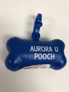 PET WASTE BAG-ROYAL WITH WHITE IMPRINT AURORA UNIV WASTE BAGS