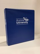 Binder, Royal Blue - Four Point - 1 Inch with AU Leaf Logo