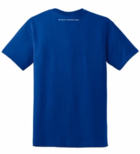 SAP T-Shirt with Spartan Athletic Park screen AU logo - (Royal Blue shirt w/ White Lettering)
