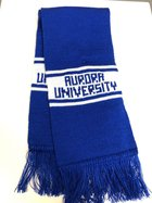 Knit Scarf 5' Royal Blue and White -Aurora University
