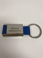 Key Ring (SI) w/ Leather (BL) Aurora University