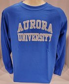 Youth Long Sleeve TShirt - Basic Design - CC Aurora University imprint in Grey with White outline