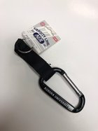 Royal Blue Carabiner Keychain - Features AU in White - Black Strap connects Carabiner to Keyring