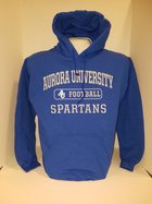 Football Hooded Sweatshirt Center Chest New Logo