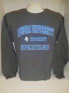 Hockey Crew Neck Sweatshirt Center Chest New Logo