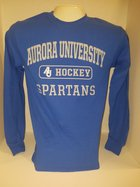Hockey Long Sleeve TShirt Center Chest New Logo