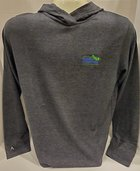 Men's Launch Hooded pullover AU Leaf logo embroidered on left chest