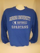 Softball Crew Neck Sweatshirt Center Chest New Logo