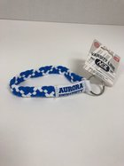 Stretchy Wristlette Royal Blue & White Interlocking AU Logo