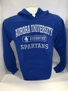 Cross Country Hooded Sweatshirt Center Chest New Logo